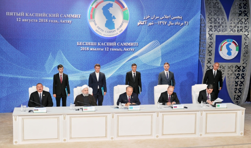 Caspian Sea Nations Sign Historic Deal On Sea, Banning Military Presence of Non-Littoral States In Region